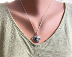 Ocean Jasper Sea Turtle Necklace