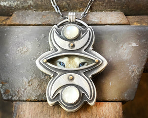 Wolf Moon Totem Necklace