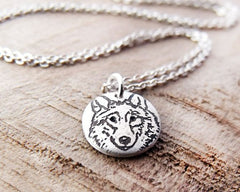 Tiny Wolf Necklace