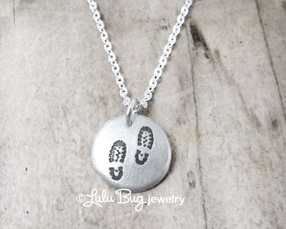 Tiny Hiking Boot Necklace