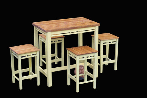 Country Kitchen Table and Stools