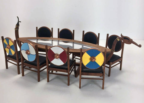 Viking Dragon Boat Table and Chairs