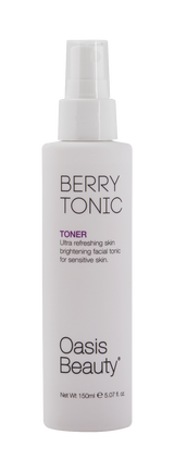 "Skin Brightening ""Berry Tonic"" Facial Toner Front of Bottom"