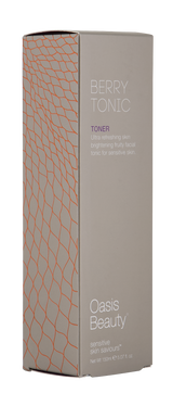 "Skin Brightening ""Berry Tonic"" Facial Toner Box on Angle"
