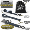 Tie Down Ratchet Straps with Soft Loops (1.6 in x 8 ft) - Heavy Duty Set | AAR Certified Break Strength (5,208 lbs)