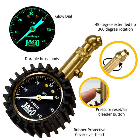 Elite™ Tire Pressure Gauge - 60 PSI