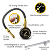 EliteProPlus™ Tire Pressure Gauge with Interchangeable Dually Air Chuck - 160 PSI