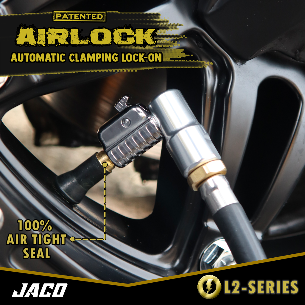 "Lightning™ Tire Air Chuck (L2-Series) | Open Flow, 1/4"" F-NPT (2 Pack)"