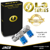 "Lightning™ L3-Series Bike Tire Air Chuck (Presta & Schrader Valves) - Open Flow, 1/4"" F-NPT (2 Pack)"