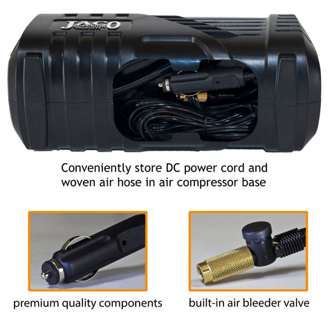 SmartPro™ 2.0 Digital Tire Inflator (AC/DC) - Automatic Portable Air Compressor - 100 PSI