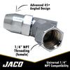 "Advanced Angled Tire Air Chuck - 1/4"" NPT (2 Pack)"