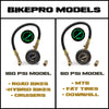 BikePro™ Presta Tire Pressure Gauge 60 PSI - with Interchangeable Schrader & Presta Valve Air Chucks - for Mountain Bikes