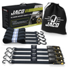 Tie Down Ratchet Straps (4 Pack) - 1 in x 15 ft | AAR Certified Break Strength (1,823 lbs) | Cargo Tie Down Set