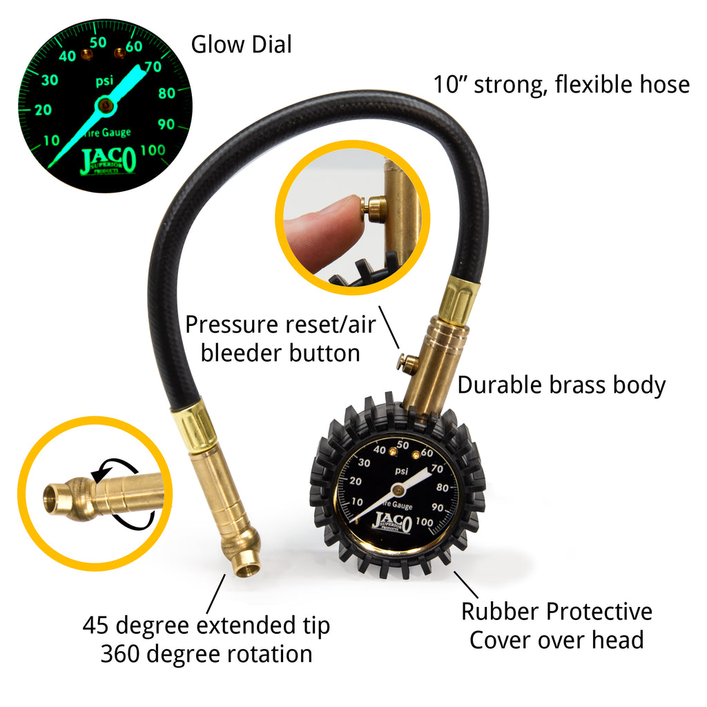 ElitePro Tire Pressure Gauge - 100 PSI