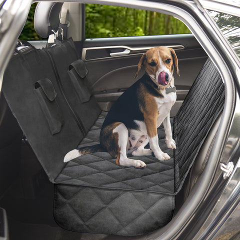 ProtectPro™ Dog Car Seat Cover - Heavy Duty, Waterproof, and Scratch Proof Back Seat Protector - Travel Pet Hammock for Car, Truck, and SUV - Universal Fit