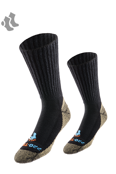 1-Pair Moisture-Wicking Odor Control Pro-Tect Copper /& Merino Wool Hiking Sock with Blister Protection