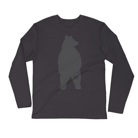 Black Bear long sleeve fitted crew