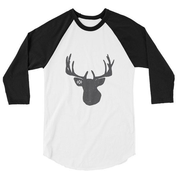 Black Stag 3/4 sleeve raglan shirt