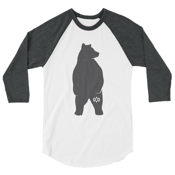 Standing Bear 3/4 sleeve raglan shirt