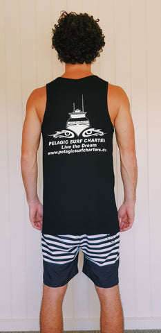 Cross Singlet - Black