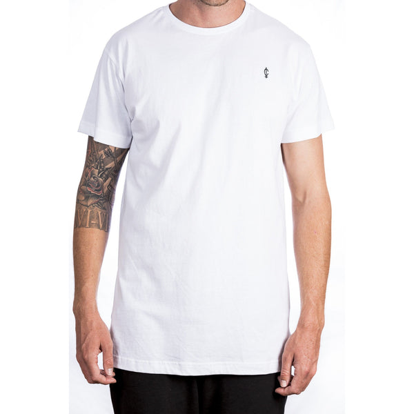 Droptail C Tee - White Front