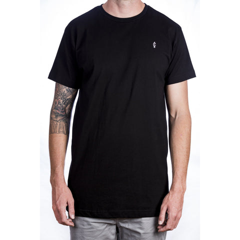 Droptail C Tee - Black Front