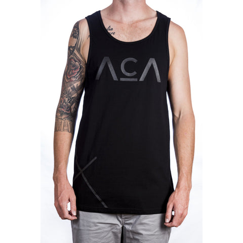 Cross Singlet - Black Front