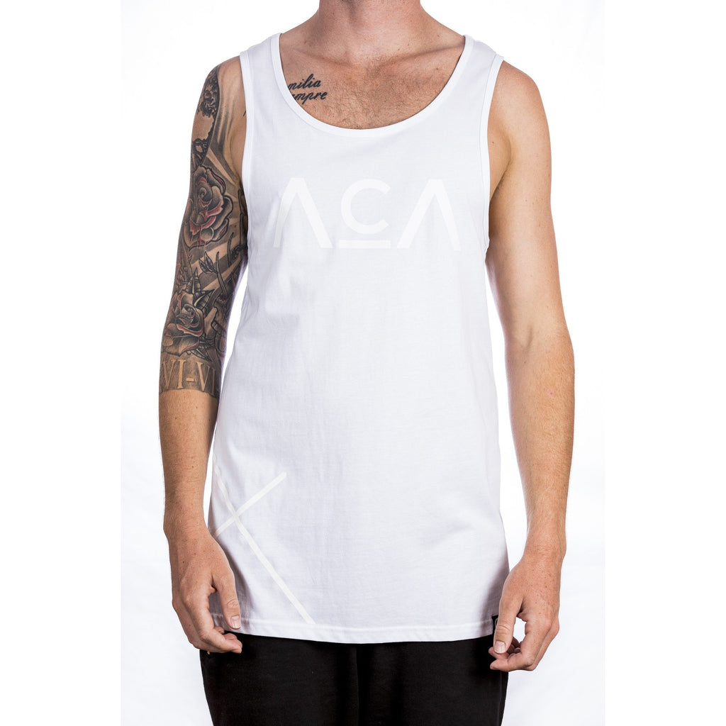 Cross Singlet - White Front