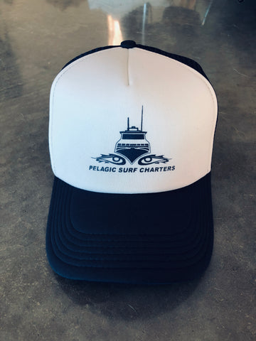 Trucker Cap - White / Navy