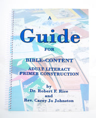 A GUIDE FOR BIBLE-CONTENT ADULT LITERACY PRIMER CONSTRUCTION (Digital Download)