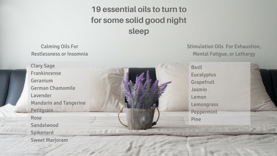 Essential oils that helps you relax and restore your sleep