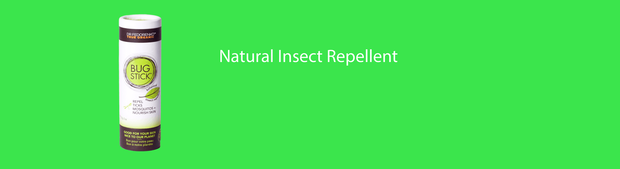 Natural Insect Repellent by Dr. Fedorenko True Organics