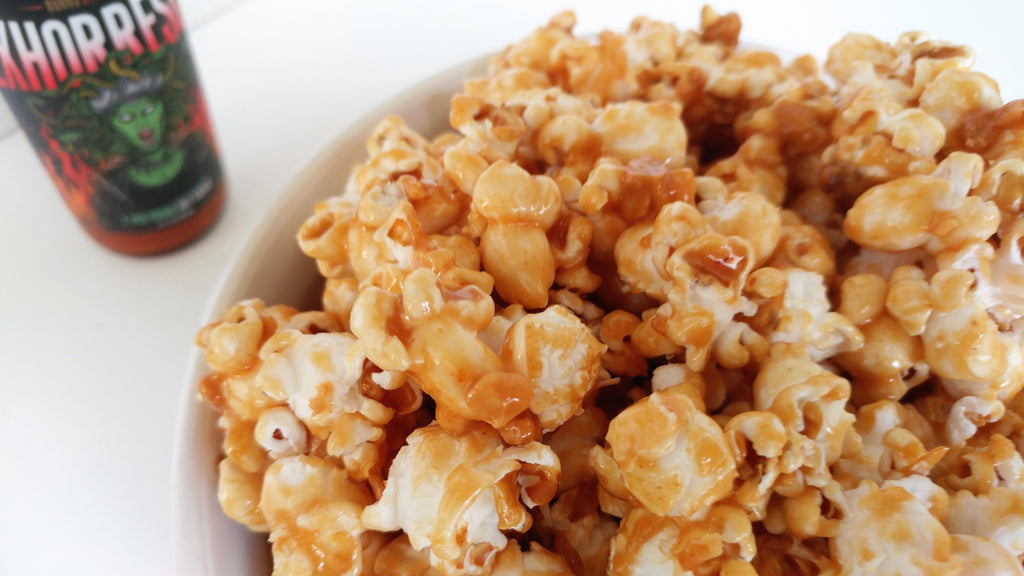 Spicy Peanut Butter Popcorn with Exhorresco
