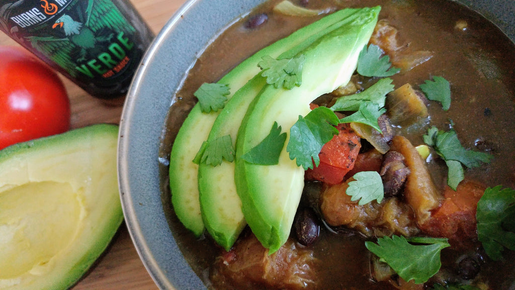 Reaper Verde Black Bean Plantain Stew