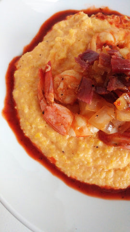 Especia Rojo Shrimp and Grits