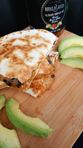 Butternut squash black bean quesadilla