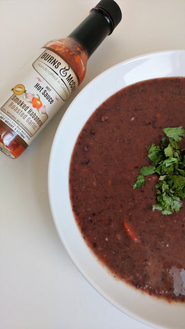 Smoked Habanero Black Bean Soup