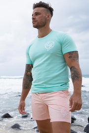 CTGL BEACH SHORTS - PALE PINK