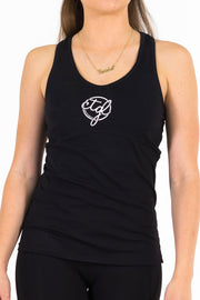 WOMEN'S SPORTS BRA SINGLET - BLACK/WHITE