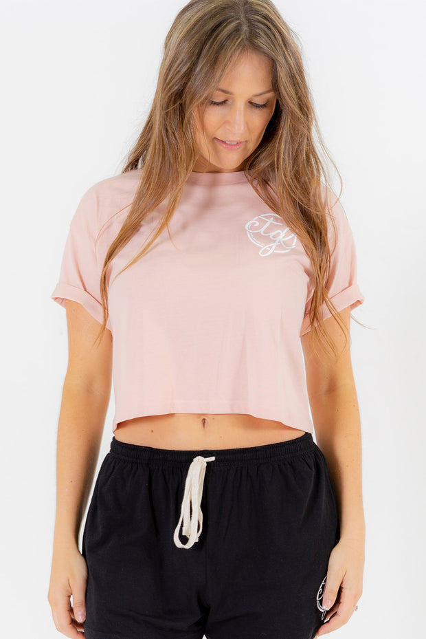 + NEW + WOMEN'S CROP TEE - PINK