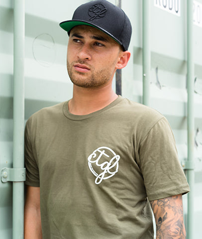 + NEW + CHASE TEE - ARMY GREEN