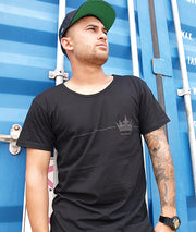 EMPIRE DRESS TEE - BLACK