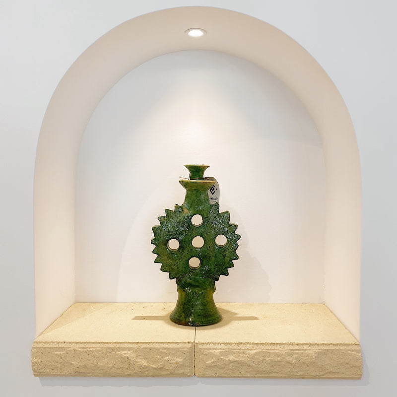 Tamegroute Green Circle Candle Holder