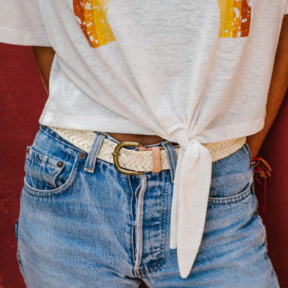 CHABI CHIC - Palm + Leather Belt