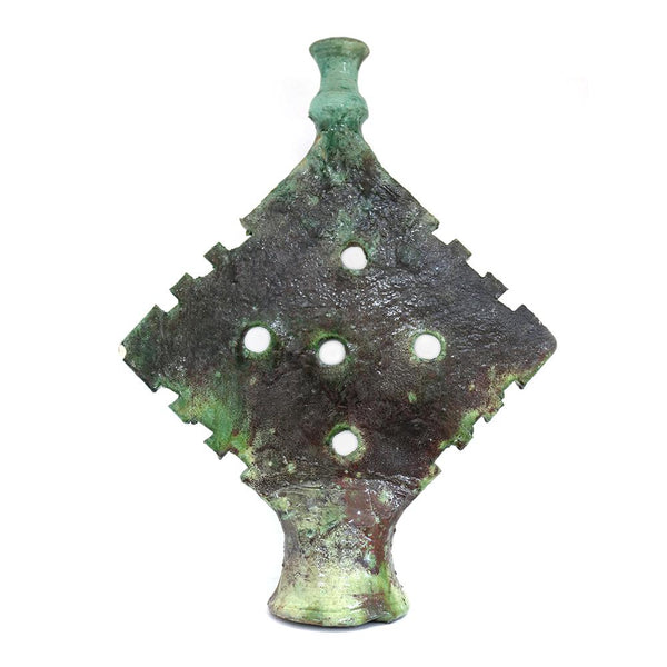 Tamegroute Green Triangle Candle Holder Large