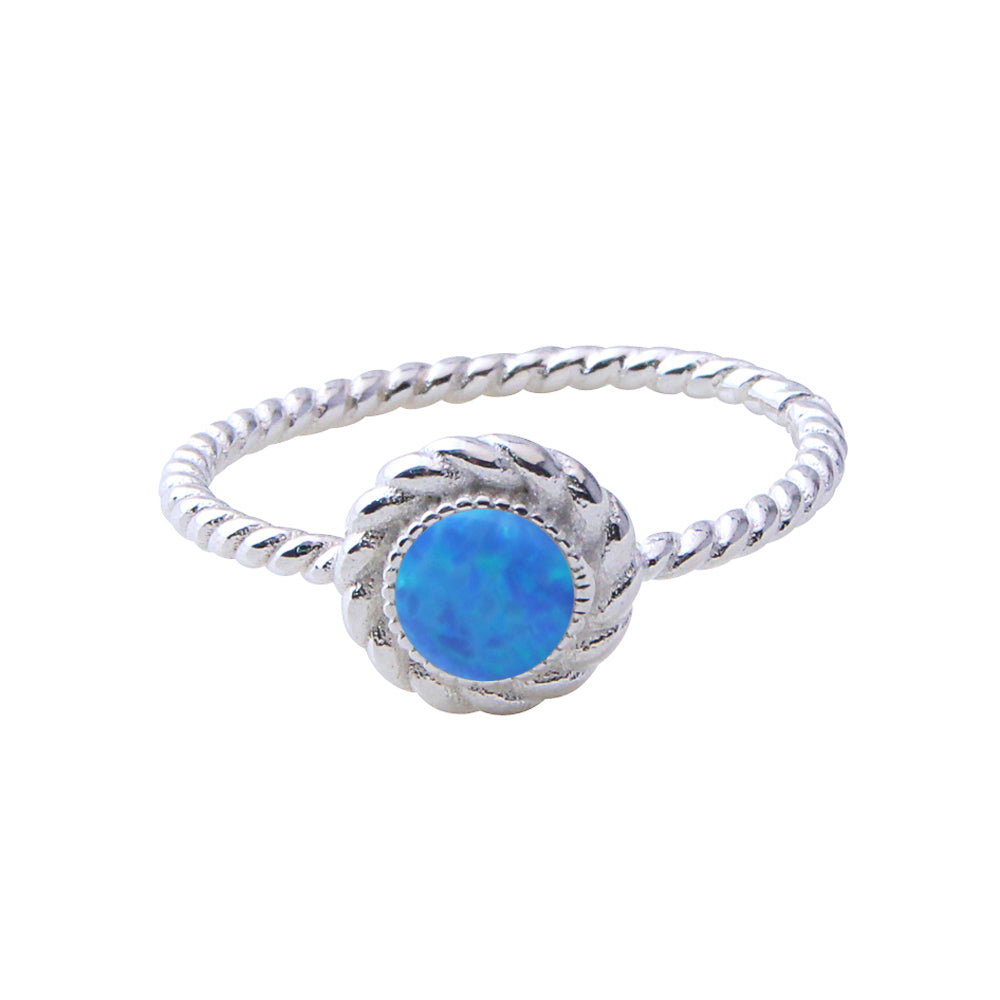 Ornate Opal Style Ring - Blue