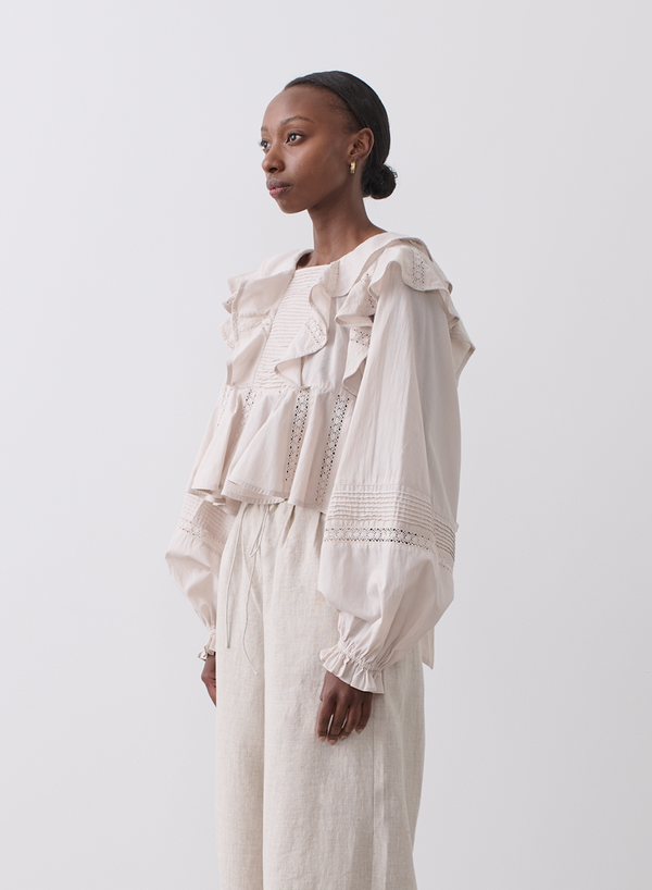 PENELOPE ORGANIC COTTON SMOCK TOP | Natural