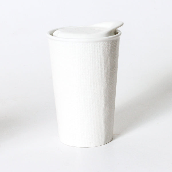 It's A Keeper Reusable Ceramic Cup - White Linen