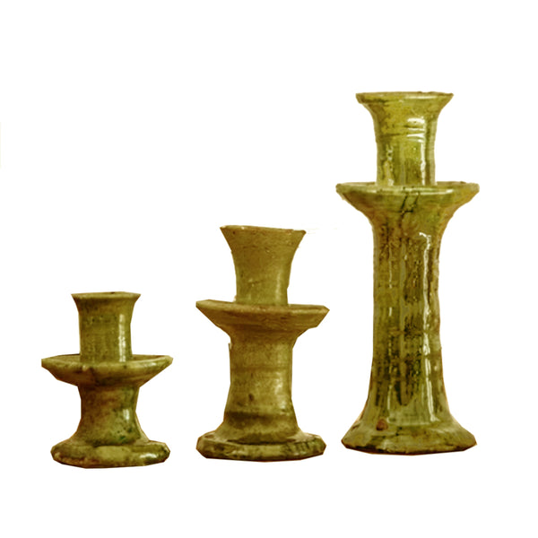 Tamegroute Yellow Candle Holders