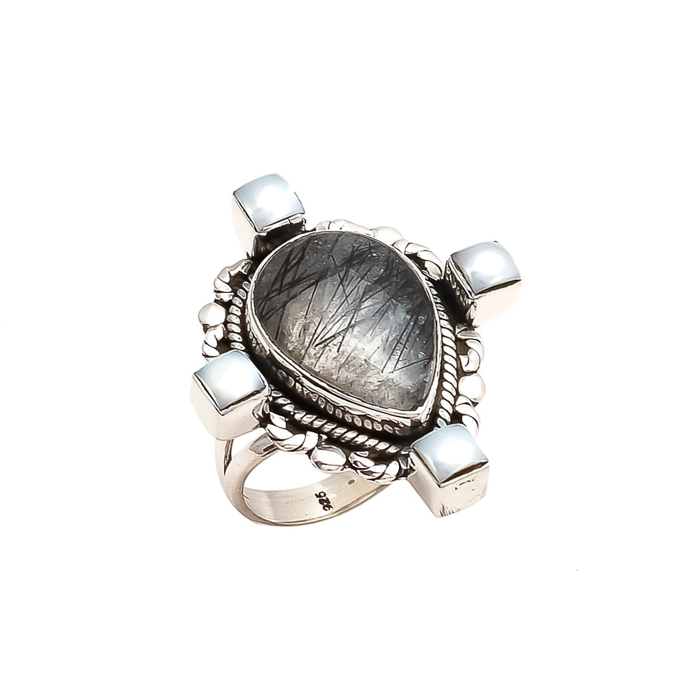 THE BEDOUIN COLLECTIVE - Planets Align Ring - Smokey Quartz
